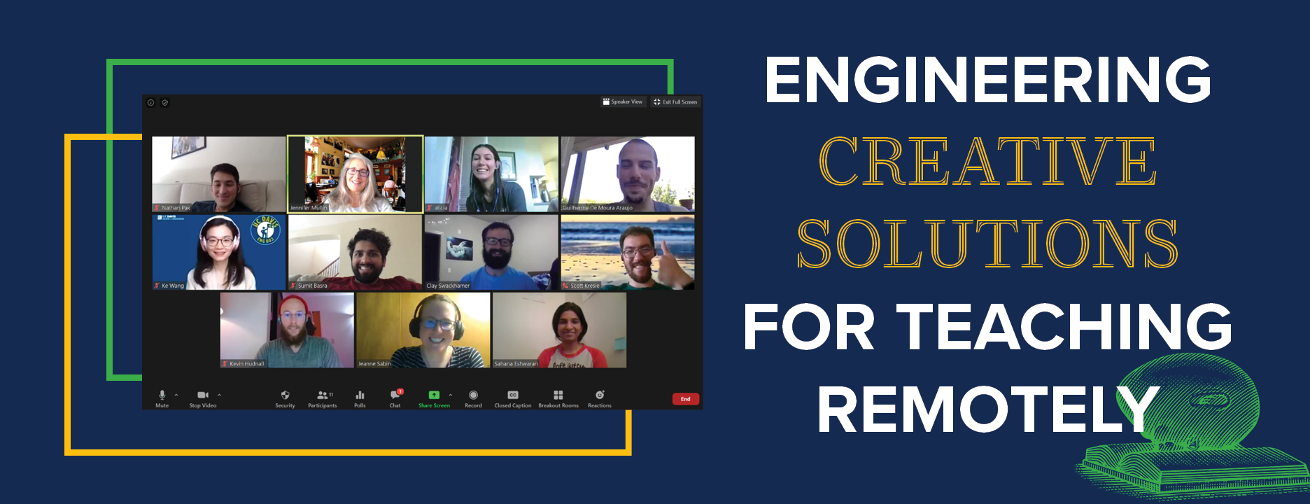 Engineering creative solutions for teaching remotely